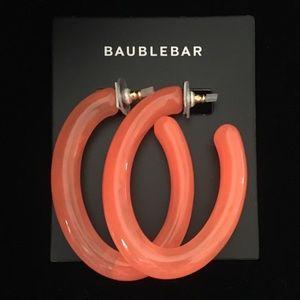 BAUBLEBAR Orange Hoop Earrings